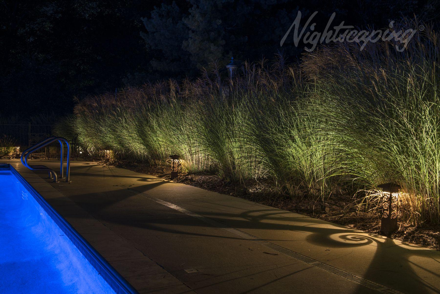 Nightscaping 6x6 Estate Series Spiral Design Corten Steel Landscape Lighting Bollards Nightscapin Landscape Lighting Bollard Lighting Outdoor Light Fixtures