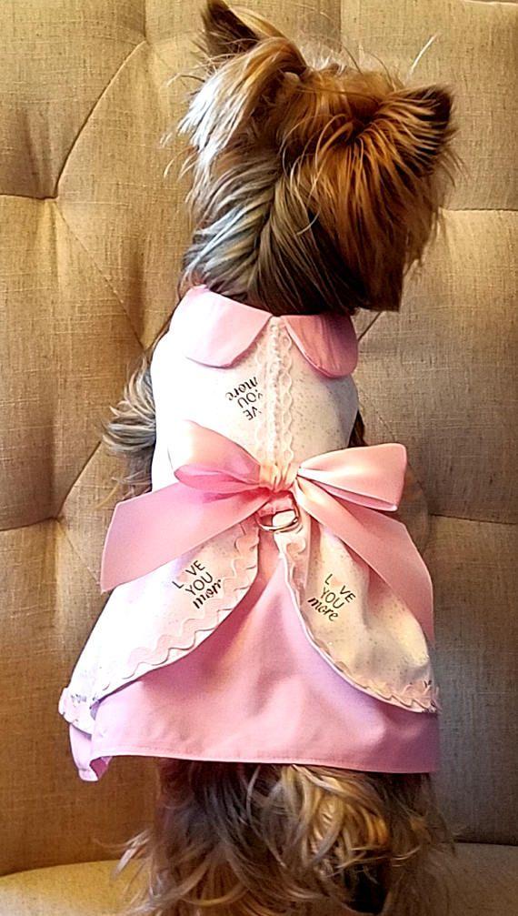 Te amo más vestido de perro perro ropa boda ropa de vestir | Lola ...