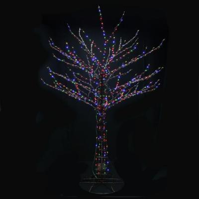 Santa S Best 8 Ft Outdoor Led Brown Bare Branch Tree Sculpture With 56 Lighting Combinations 2407012uho At The Home Dep Tree Sculpture Tree Branches Sculpture