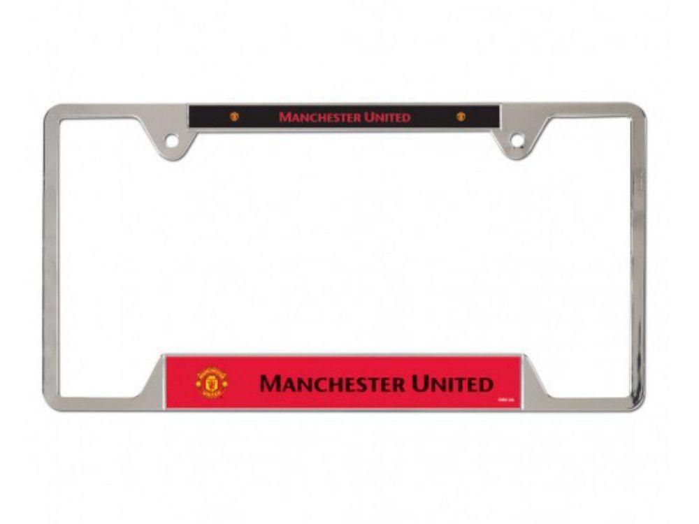 Manchester United Manu WinCraft Chrome License Plate Frame