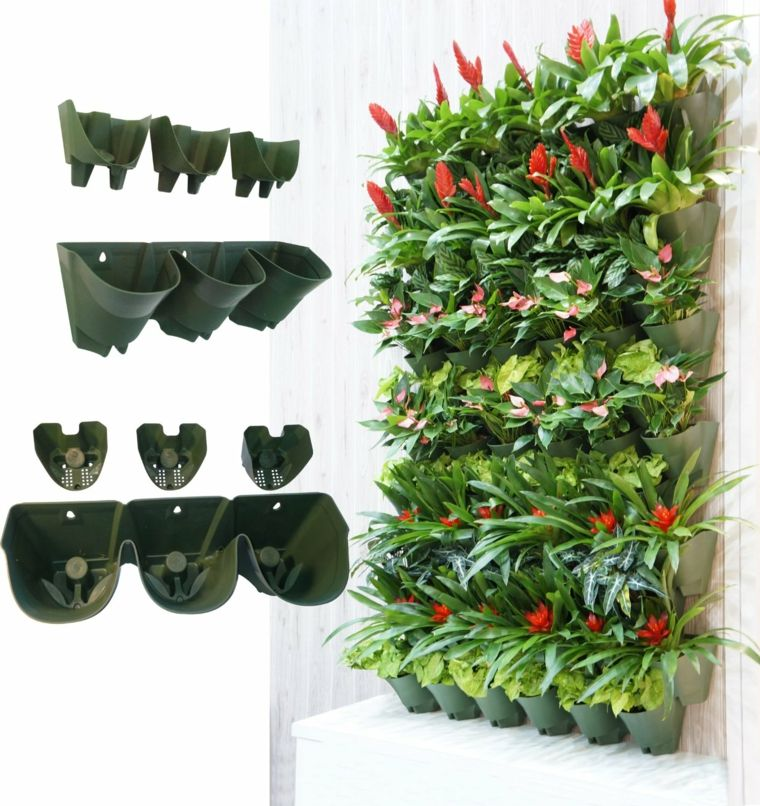 Originales macetas para colgar de la pared cuadros vivos - Macetas para jardin exterior ...