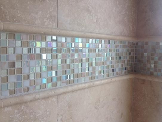 Ivy Hill Tile Capriccio Collegno 12 In X 12 In X 8 Mm Glass Floor And Wall Tile Capriccio Collegno Glass Tile The Home Depot Splashback Tiles Bathroom Tub Remodel Mosaic Bathroom