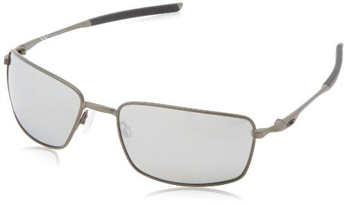 Oakley Square Wire Polarized Iridium Rectangular SunglassesCarbon60 mm ** Details can be found by clicking on the image.