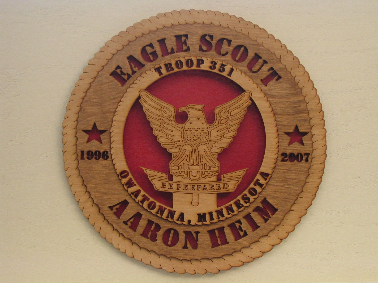 Boy Scouts of America Eagle Scout Plaque What a great gift idea, I ...