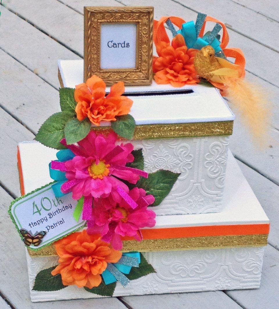 Wedding Gift Table Decoration Ideas: Birthday Card Box,Tropical Wedding, Retirement Card Box