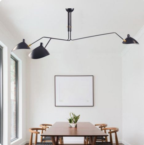 Post The Modhemian Serge Mouille Inspired Lighting A Girl On A Budget The Modhemian Serge Mouille Ceiling Light Ceiling Lights Living Room Serge Mouille Ceiling