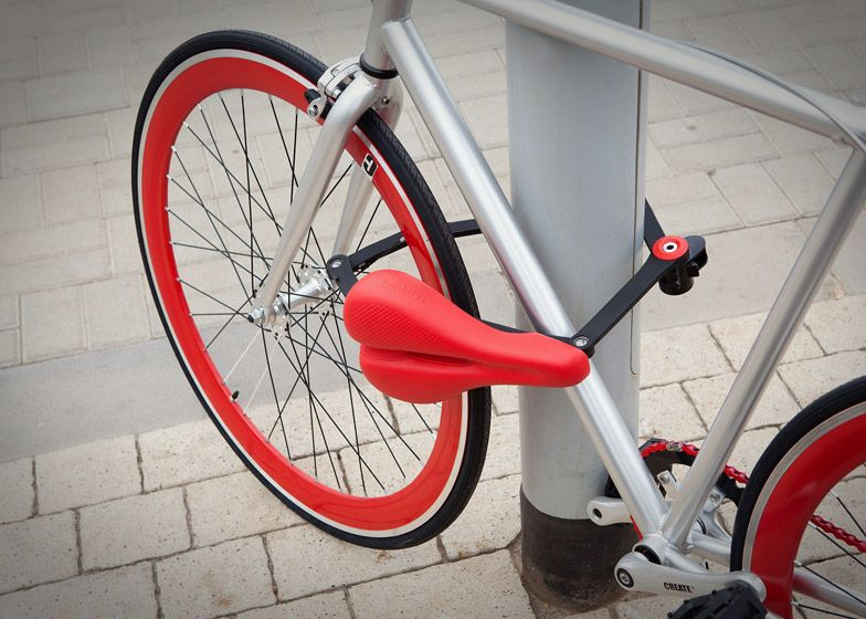 This Bicycle Seat Also Functions As A One Metre Long Bike Lock