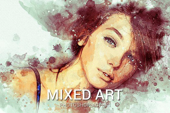 Mixed Art Photoshop Action By Slidesalad On Creativemarket