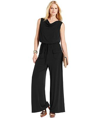 dbc4baaa6c7a Vince Camuto Wide-Leg Cowl-Neck Jumpsuit