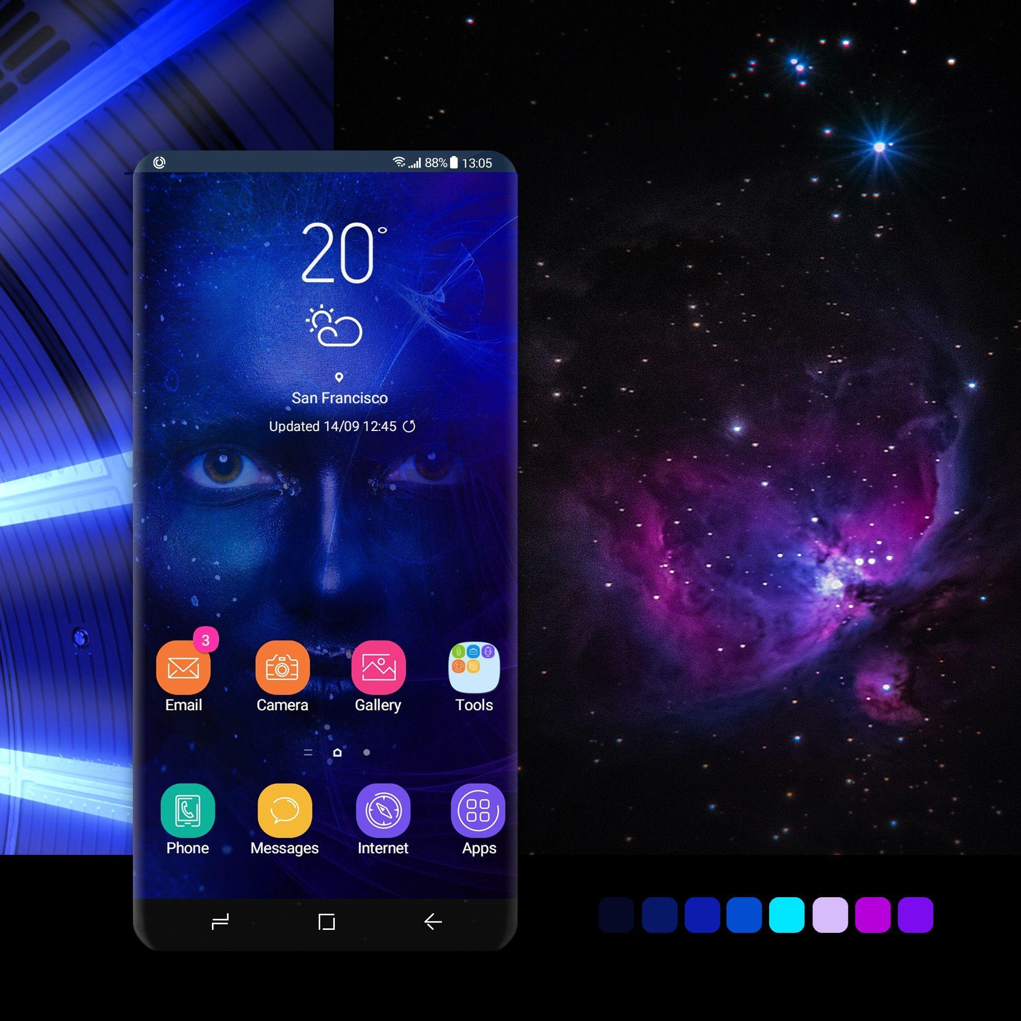 Cosmic Girl Galaxy Theme Galaxy Samsung Wallpaper