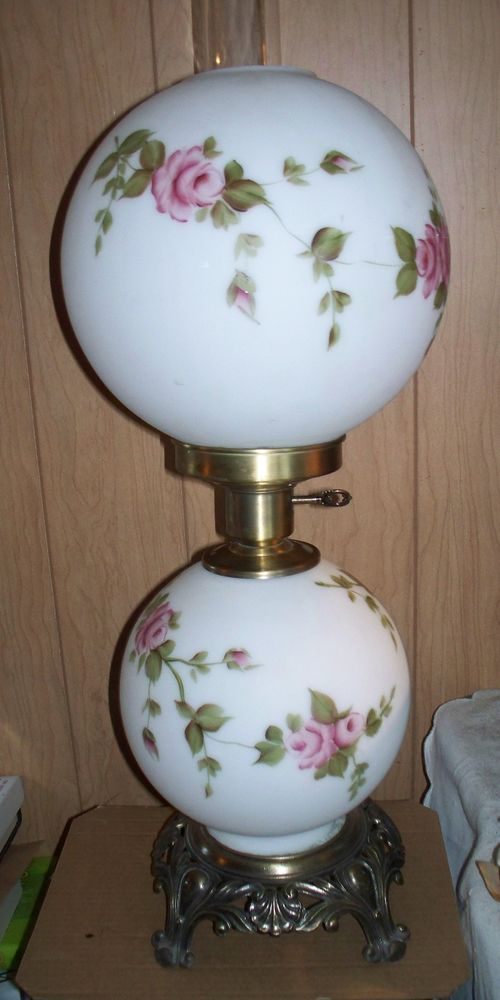 Gwtw Style Double Globe Table Lamp, Vintage Double Globe Lamps