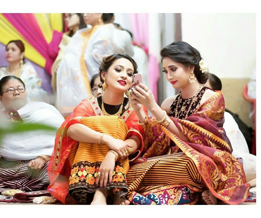 Manipuri #meitei #wedding scene  Two of the famous female actors of