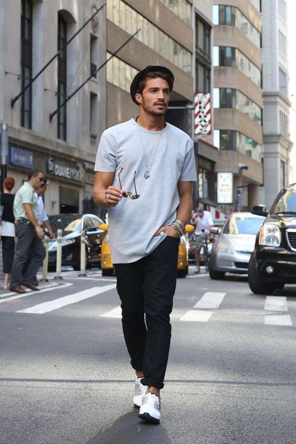 10 Fashion Tips For Tall Skinny Guys Gaya Model Pakaian Pria Model Pakaian Pria Pakaian Pria