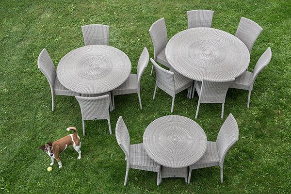 Table de jardin galet Cigale diam. 80