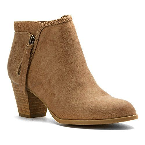 Report Women's Chloey Ankle Bootie, Taupe, 7.5 M US Report