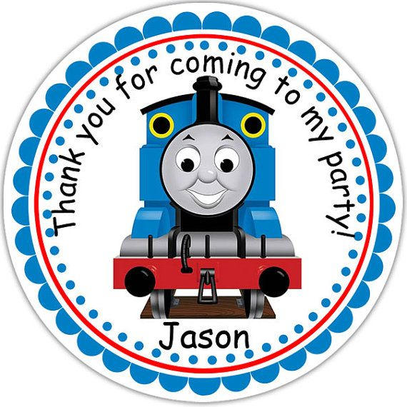Thomas the Train Personalized Stickers Party Favor Tags