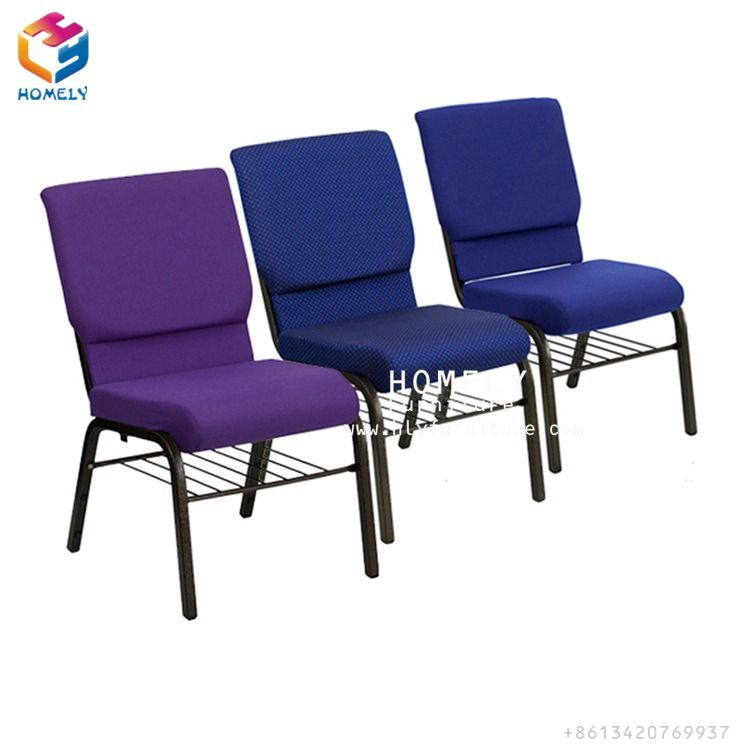 Cheap High Quality Interlocking Auditorium Church Chair Of Iron