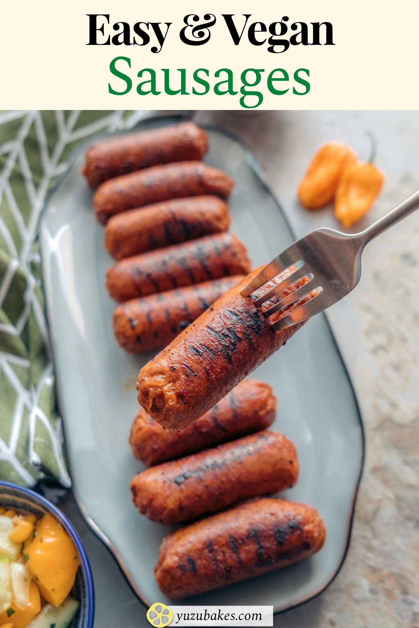 Easy Meat Free Vegan Sausages Recipe In 2020 Vegan Sausage Recipe Vegan Sausage Delicious Vegan Recipes