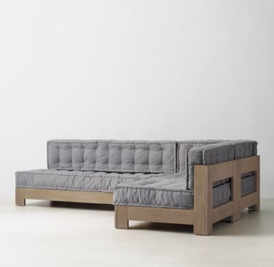 RH TEENu0027s Callum L Sectional Set:With Stout Corner Posts And A Low Slung