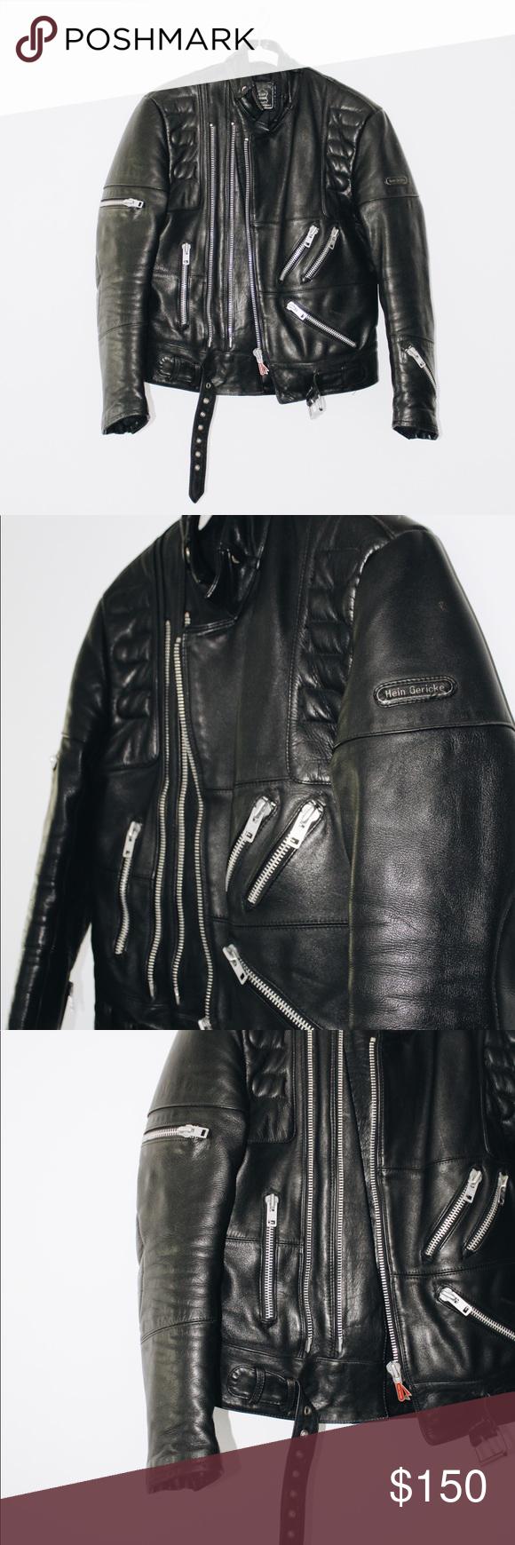 Hein Gericke Vintage Leather Motorcycle Jacket Vintage