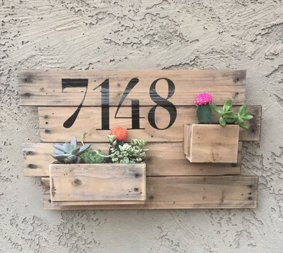 Direcci n personalizada de madera jardinera por - Macetas madera exterior ...