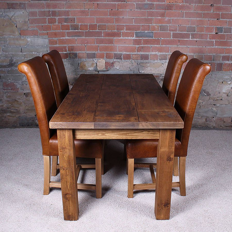 Are You Interested In Our Solid Wood Dining Table With Rustic Plank Need Look No Further
