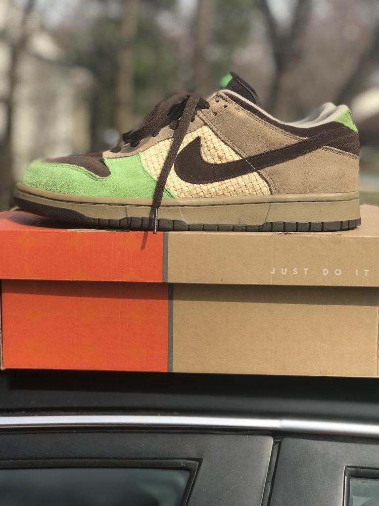 3852e7e96 Nike Dunk Low ALOHA Kickshawaii 2004 (OG) Khaki/Baroque Brown-Mean Green  Size 9 #Nike #Kickshawaii