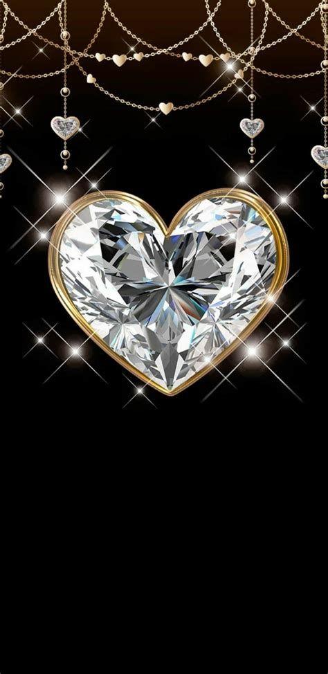 Heart Gem | Heart Iphone Wallpaper, Bling Wallpaper, Phone