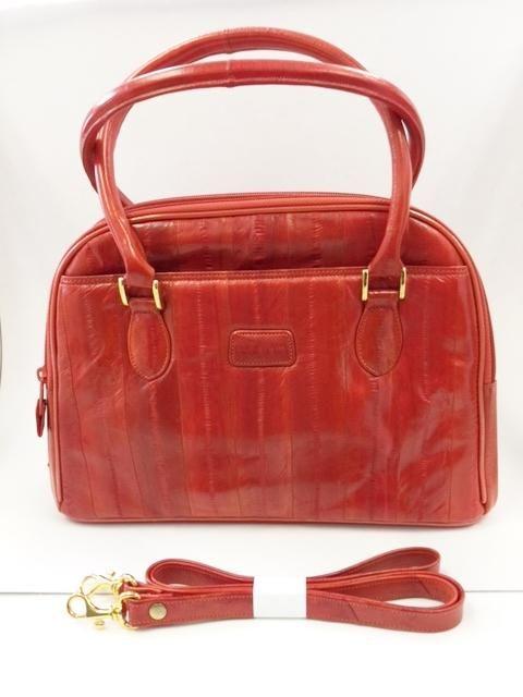 Lee Sands Eel Skin Organizer Handbag