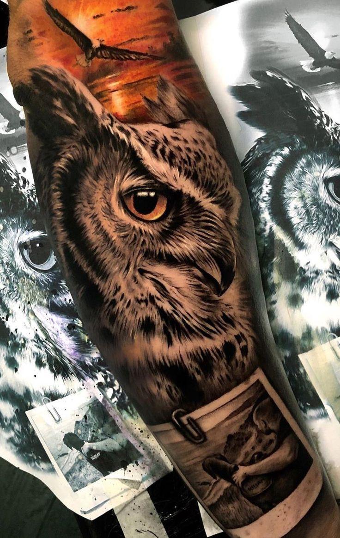 Owl tattoos back tattoos & eule tattoos zurück