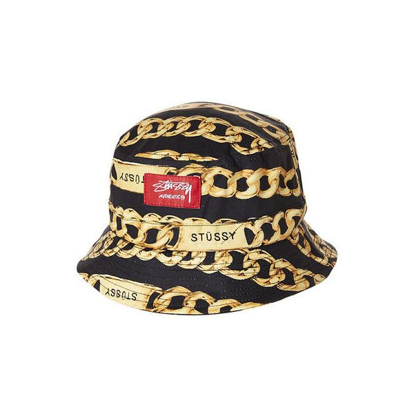 Stussy Five Iron Bucket Hat Chains 30 Liked On Polyvore Featuring Accessories Hats Bucket Hat Extra Headwea Bucket Hat Fashion Mens Bucket Hats Stussy