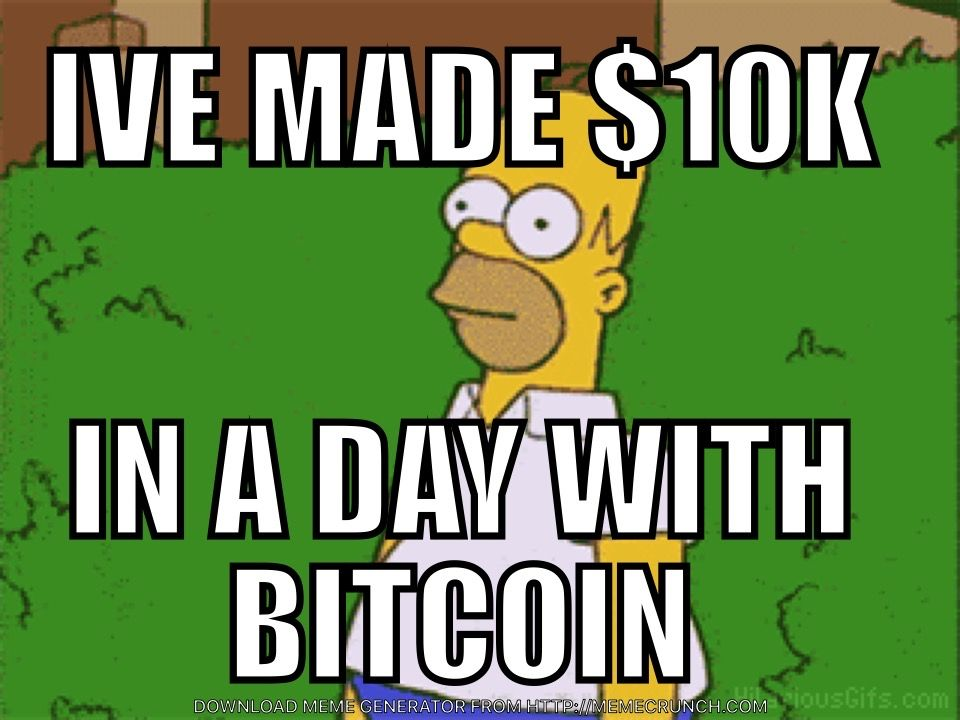 Bitcoin Homer Marketing Meme Stock Market Memes