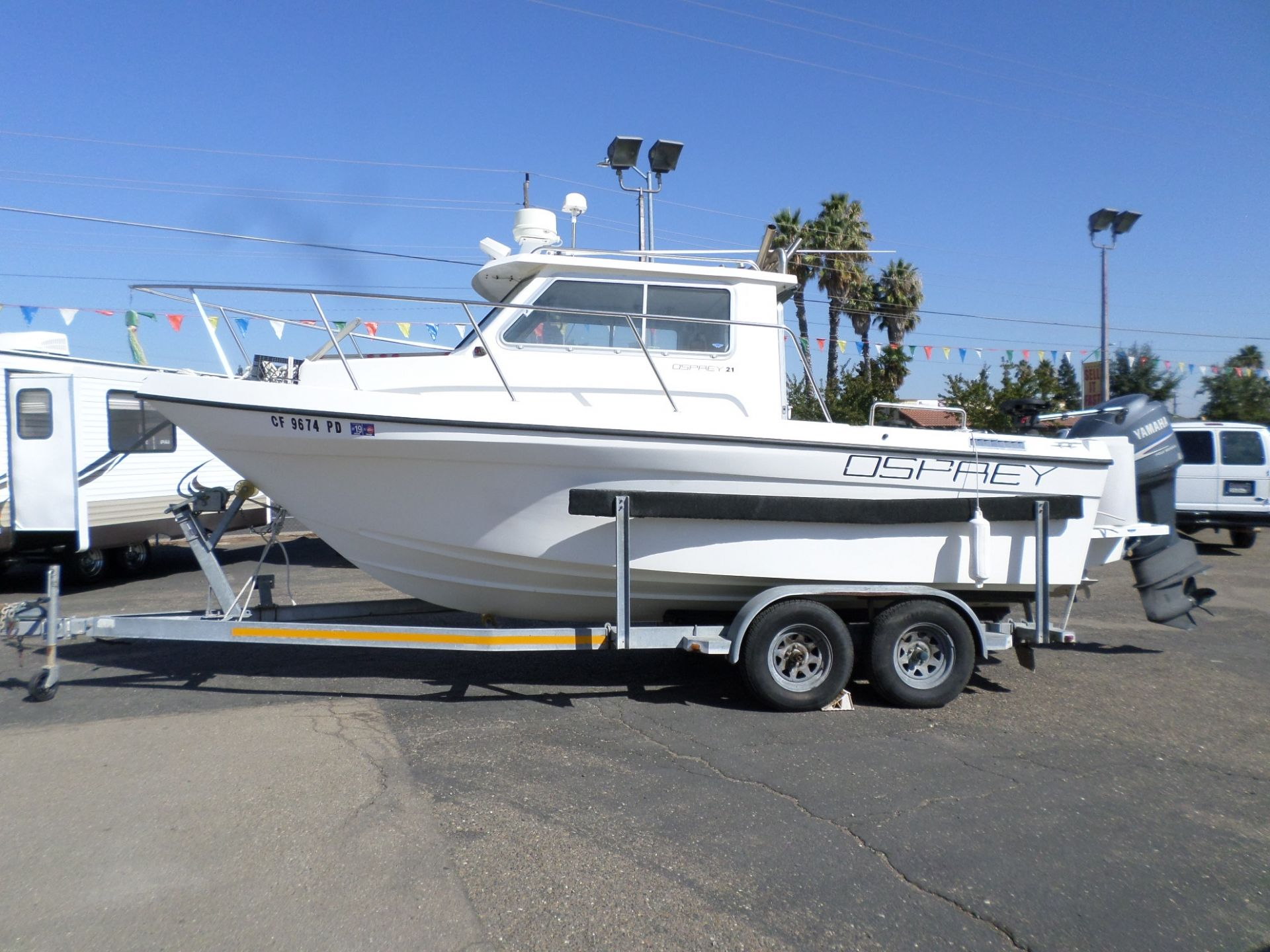 Used Fishing Boats For Sale >> 1998 Osprey 21 Fisherman Pilothouse Fishing Boat Boats