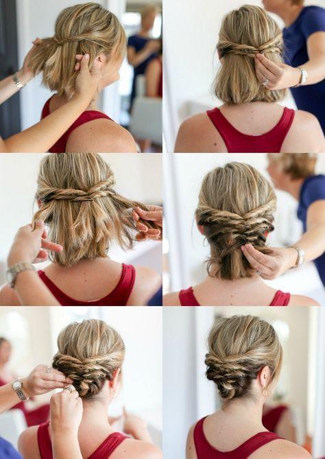 Hochsteckfrisuren mit Anleitung für kurze Haare – Hairstyle Short