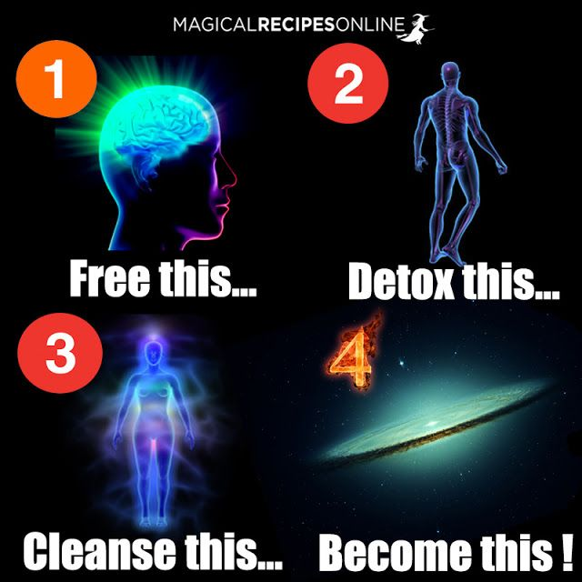 free your mind, detox your body, cleanse your aura, become a