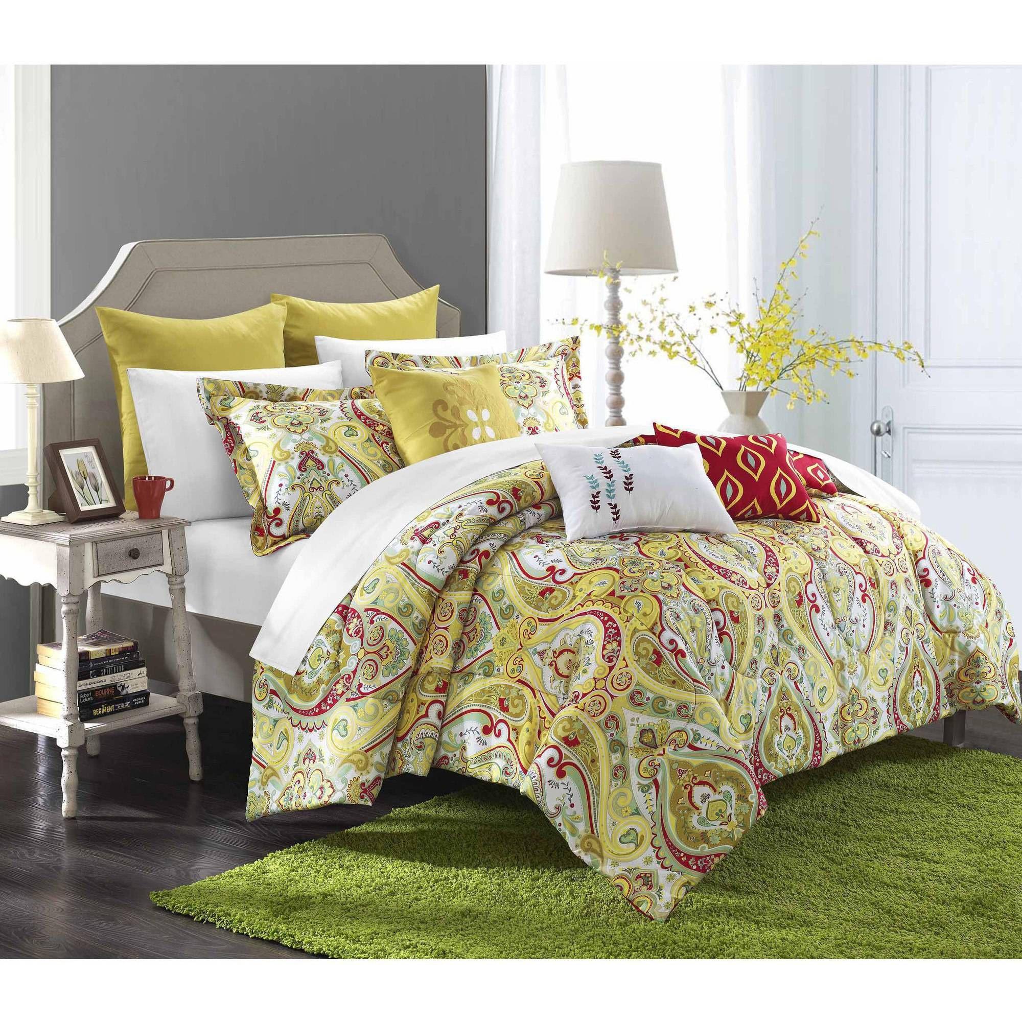Home Comforter sets, Yellow comforter set, Home