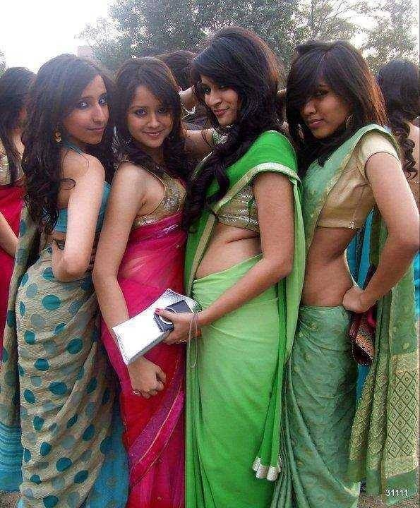 Bangladeshi Girls In Saree  Dress Designs For Girls -8934