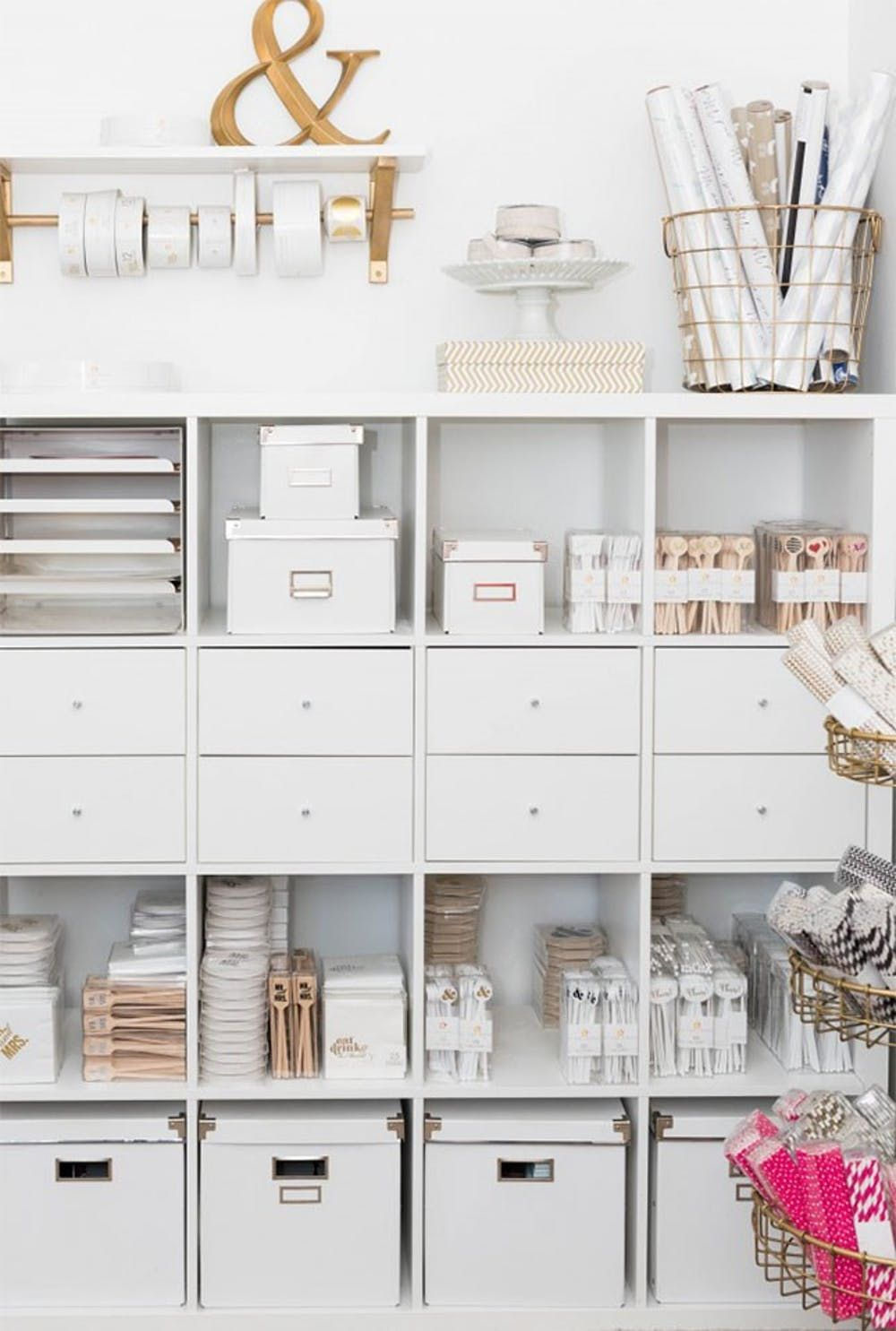 17 ikea hacks that ll answer all your craft storage woes brit co ikea hacks pinterest. Black Bedroom Furniture Sets. Home Design Ideas