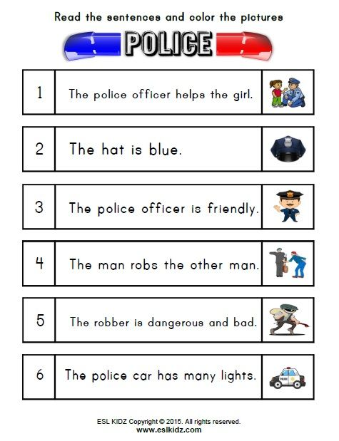 Police Classroom Center Activity Bundle | Police Activities for Kids