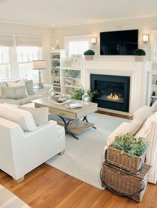 36 Light Cream And Beige Living Room Design Ideas Farm House Living Room Neutral Living Room Design New Homes