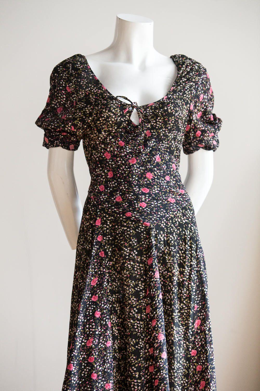 Summer Dress Grunge Dress Floral Dress Small Flower Dress