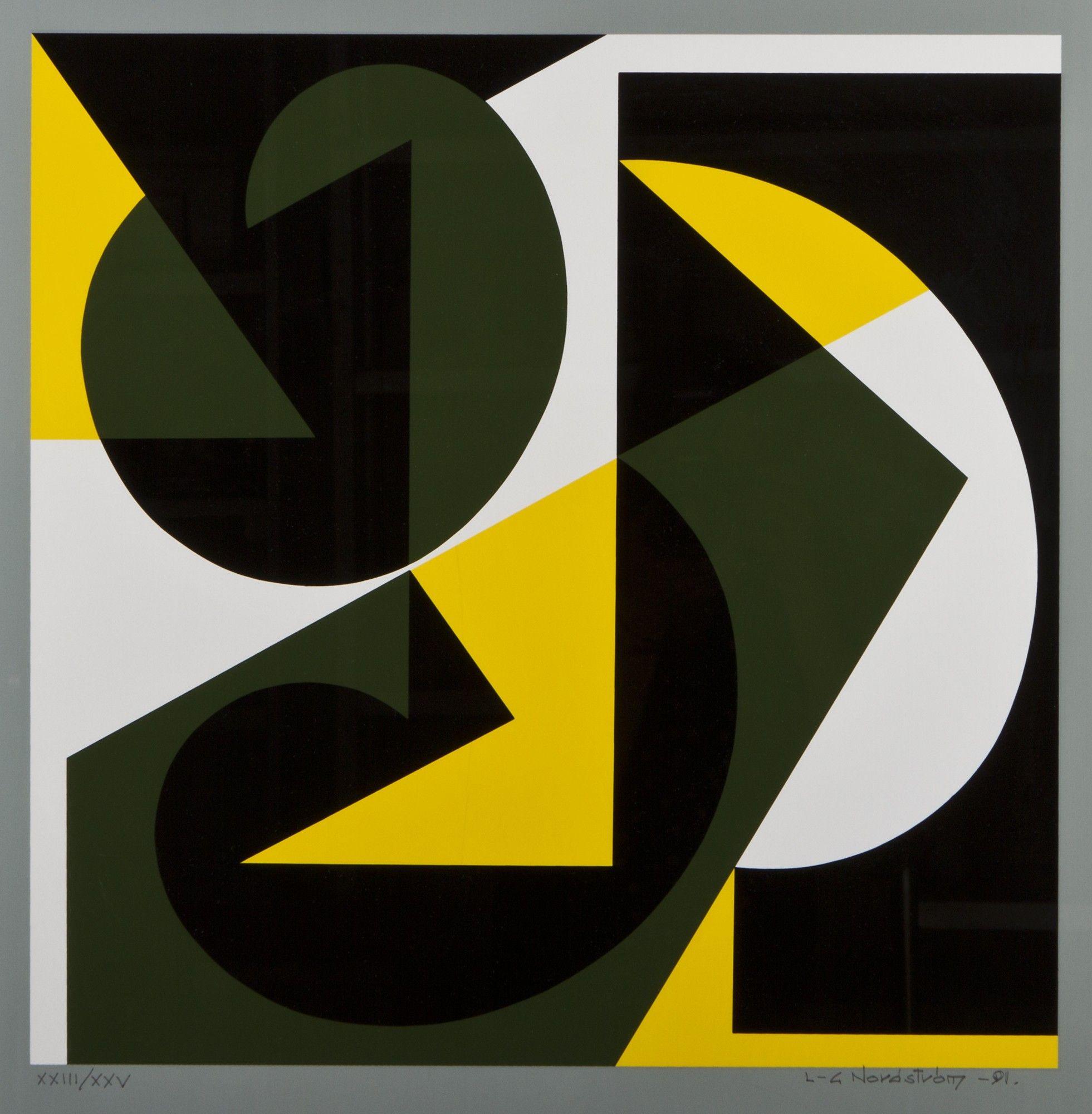 Lars-Gunnar Nordström, 1991, serigrafia, 49x49 cm, edition XXIII/XXV - Hagelstam A136
