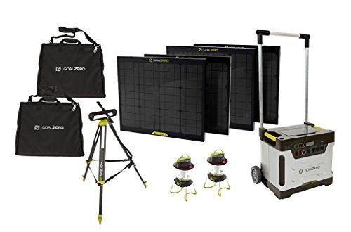 Amazon Com Goal Zero Yeti 1250 Solar Generator Kit With Cart 4 Boulder 30 Solar Panels 2 Panel Carrying Best Solar Panels Solar Generator Solar Panel Kits