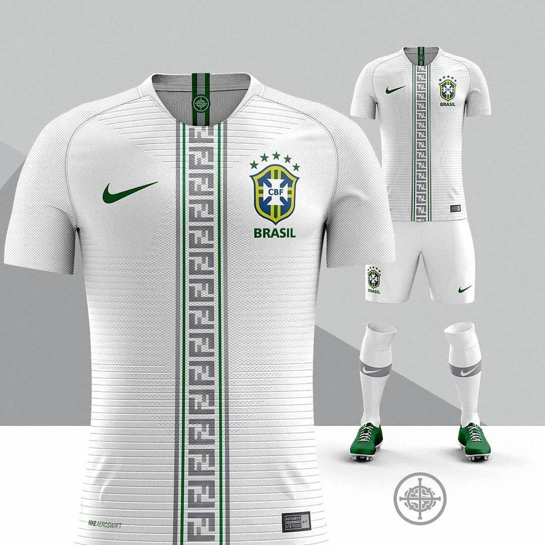 biblioteca Mente De alguna manera  Nike x Fendi Football Kit Concept for Brazil 🇧🇷⚽️   Camisetas deportivas,  Camisa de fútbol, Uniformes de futbol completos