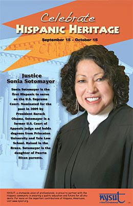 Sonia Sotomayor Is The First Hispanic To Serve On The U S Supreme Court Nominate Hispanic Heritage Hispanic Heritage Month Activities Hispanic Heritage Month