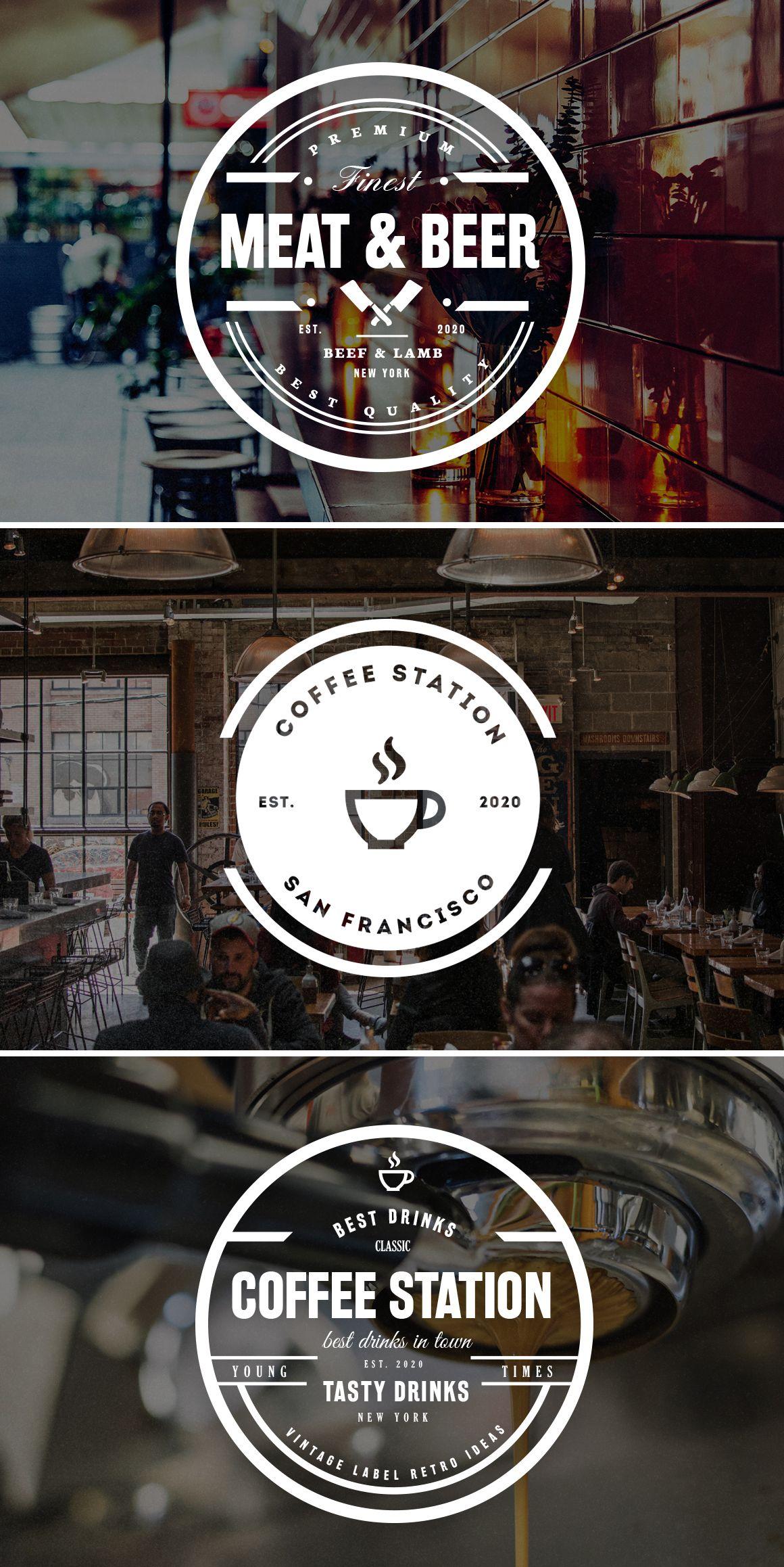 All In One Logo Bundle Coffee Shop Logo Design Coffee Shop Logo Vintage Logo Design
