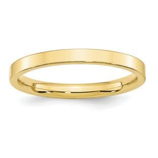 14K Yellow Gold 2.5mm Light Light Comfort Fit Band