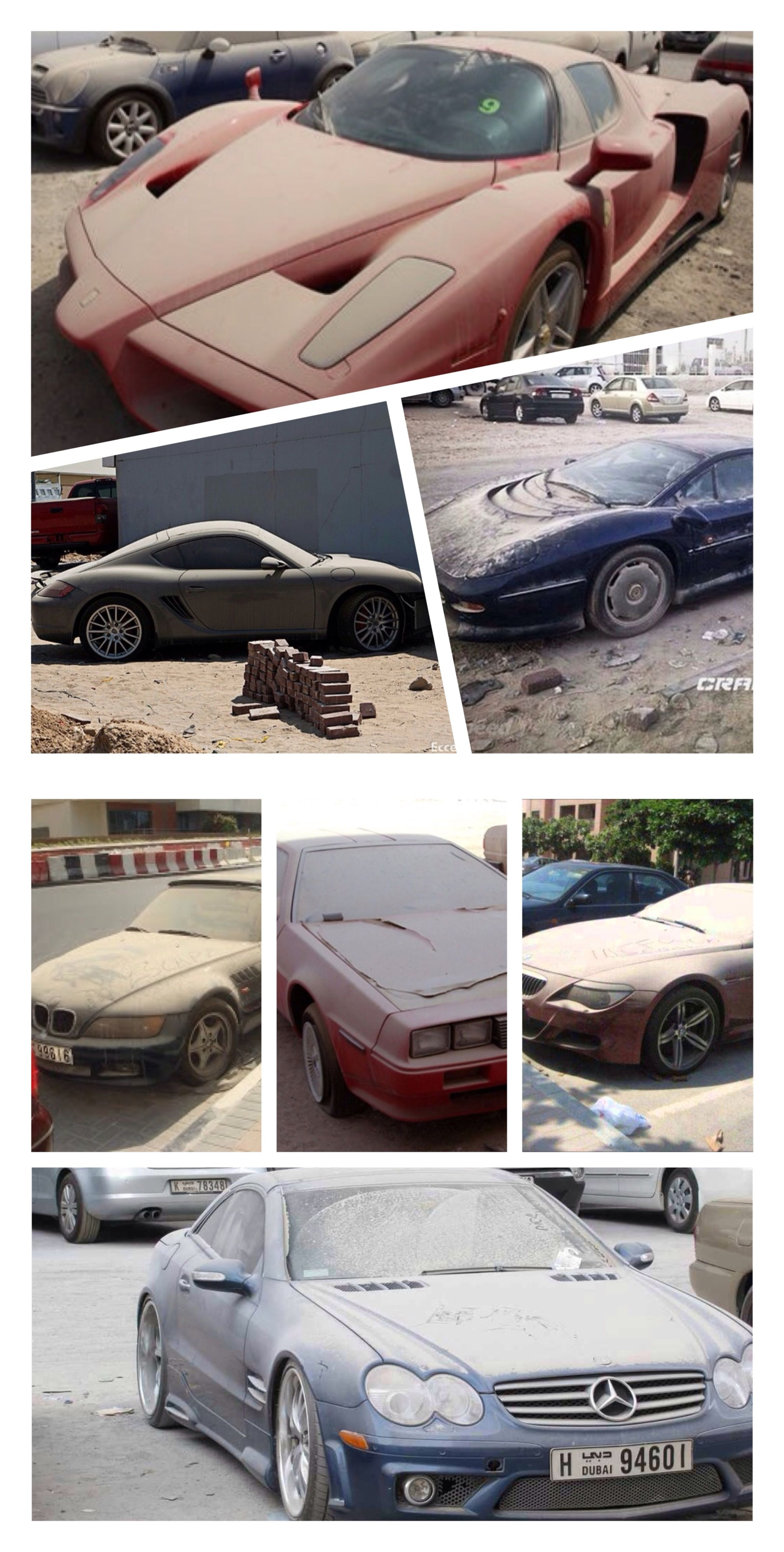 Dubai abandoned luxury cars never credit for what you can t pay 2009 financial