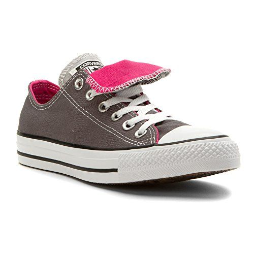 75f22e1e23d9 Womens Converse Chuck Taylor All Star Double Tongue Ox Rifle Grey Pink (9.5  B