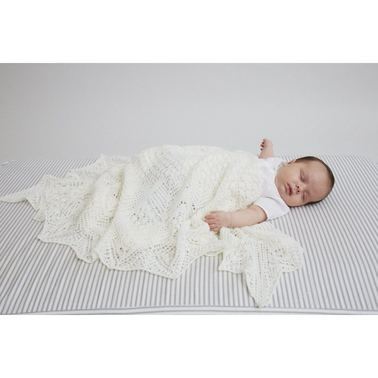 1bf72c022403f Heirloom Christening Shawl in Debbie Bliss Rialto Lace - DB183 - Downloadable  PDF. Discover more